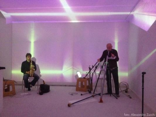 Spazioersetti, galleria di arte sonora, concerto con Werner Durand