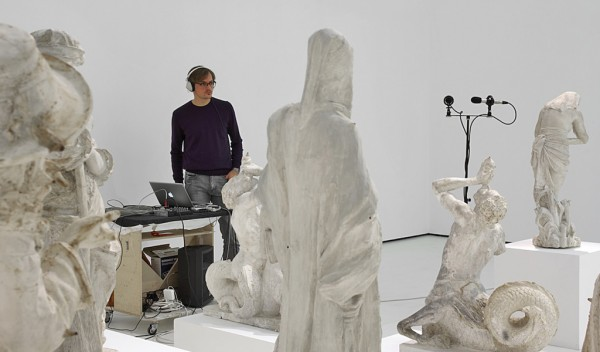 Michele Spanghero, recording Audible Forms @ Mart museum, Rovereto, Italy 2012 photo courtesy the artist, Galerie Mazzoli, Belin and Mart museum